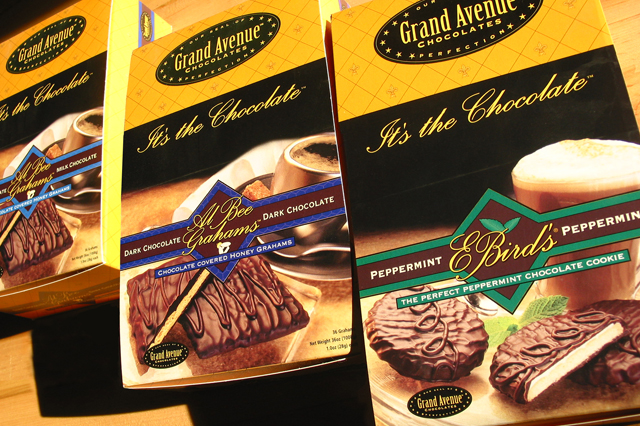 Grand Avenue Chocolate packages