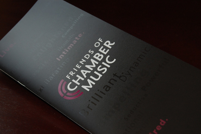 Friends of Chamber Music 75th Anniversary Brochure
